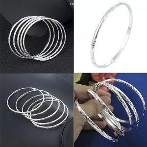 New 3 Pc Sterling Silver Bangle Bracelets